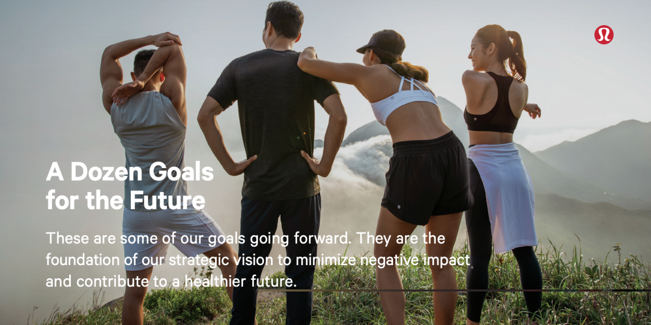 lululemon Releases Comprehensive Social and Environmental Impact Goals